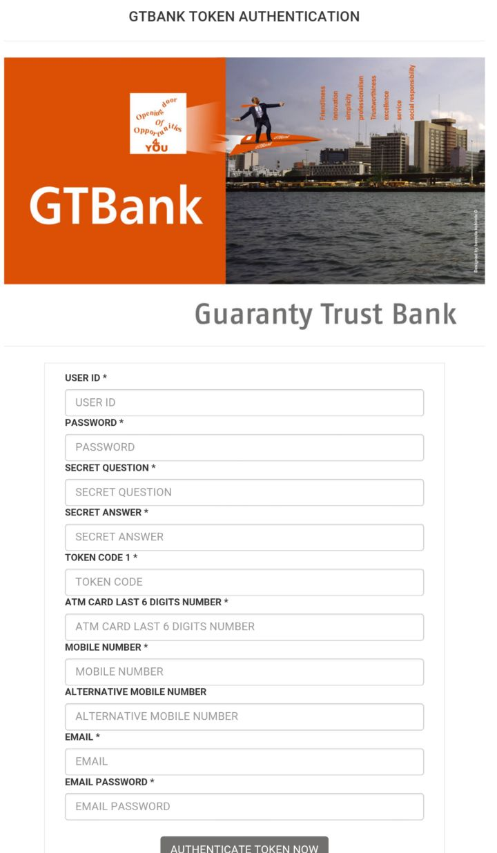 GTBank Scam Attachment
