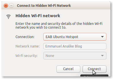 Ubuntu Connect Hotspot