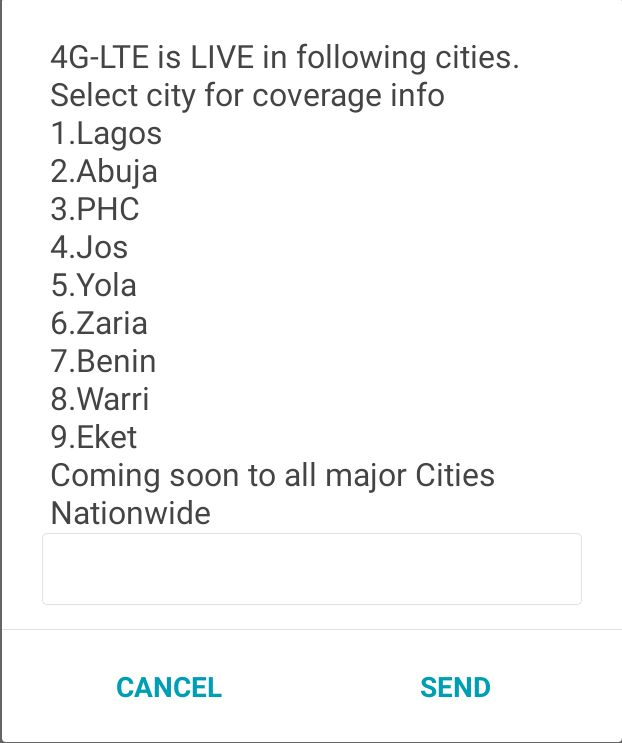 Glo 4G-LTE Cities Nigeria